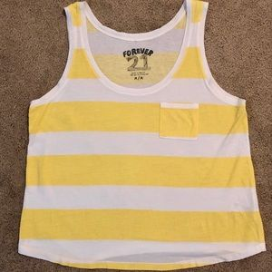 Forever 21 Sunny Yellow Top! Size Med. EUC!